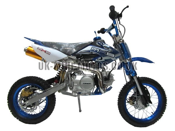 Mini Dirt Bike - Mini Dirt Bike DB02 Red white Flames - Mini dirt bike