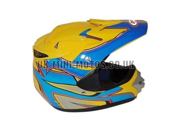 Helmets Yellow / Blue Motorcross - Adult and Kids Helmets Yellow / Blue Motorcross - Motorcycle Helmets Yellow / Blue Motorcross - Crash Helmets Yellow / Blue Motorcross - Motorbike Helmets Yellow / Blue Motorcross