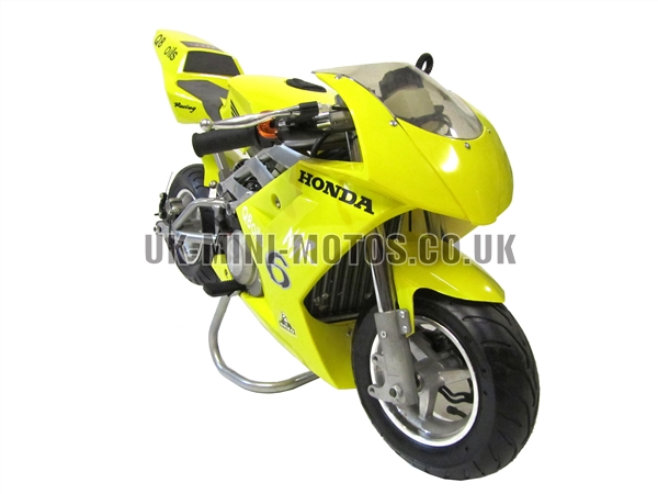 Water Cooled Mini Motos - Minimoto - Pocket Bikes - Yellow Water Cooled Mini Moto