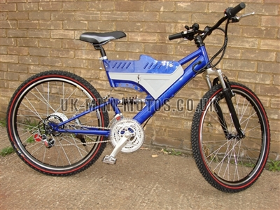 Electric Bikes - Wrangler Electric Bike Blue - Electric Bikes