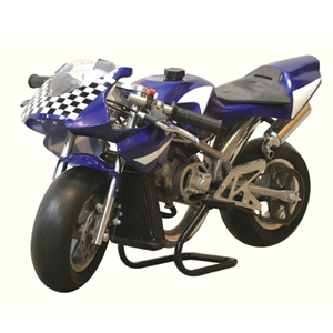 Water Cooled Mini Motos - Liquid Cooled Minimotos - Blue Liquid Cooled Pocket Bikes