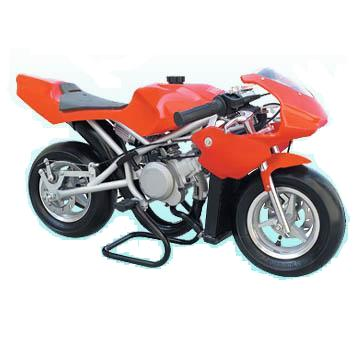 Water Cooled Mini Motos - Liquid Cooled Minimotos - Red Liquid Cooled Pocket Bikes