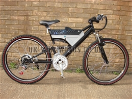 Electric Bikes - Wrangler Electric Bike Black - Electric Bikes