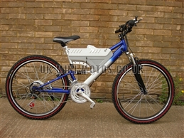 Electric Bikes - Wrangler Electric Bike Blue / Silver - Electric Bikes