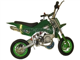 Mini Dirt Bike - DB02 Green Mini dirtbike - Mini Dirt Bikes  - Pocket Bikes - Minimotos - Mini Moto