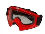 Helmet Goggles Red - Adult Helmet Goggles Red - Motorcycle Goggles Red - Motorbike Goggles - Motorcross Helmet Goggles Red