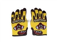 Motorbike Gloves Yellow - Adult and Kids Motorbike Gloves - Motorcross Gloves - Yellow Motorcycle Gloves - Trials Gloves