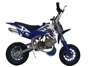 Mini Dirt Bike - Mini Dirt Bike DB02 blue white Flames - Mini dirt bike