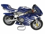 Mini Motos - Minimoto - Pocket Bikes - Blue With White Flames Mini Moto